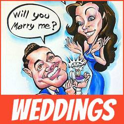 Wedding Caricatures by Mark Hall in Denver